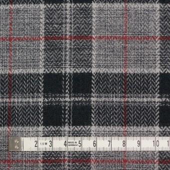 コットン×チェック(レッド、ブラック&グレー)×ヘリンボーン サムネイル4