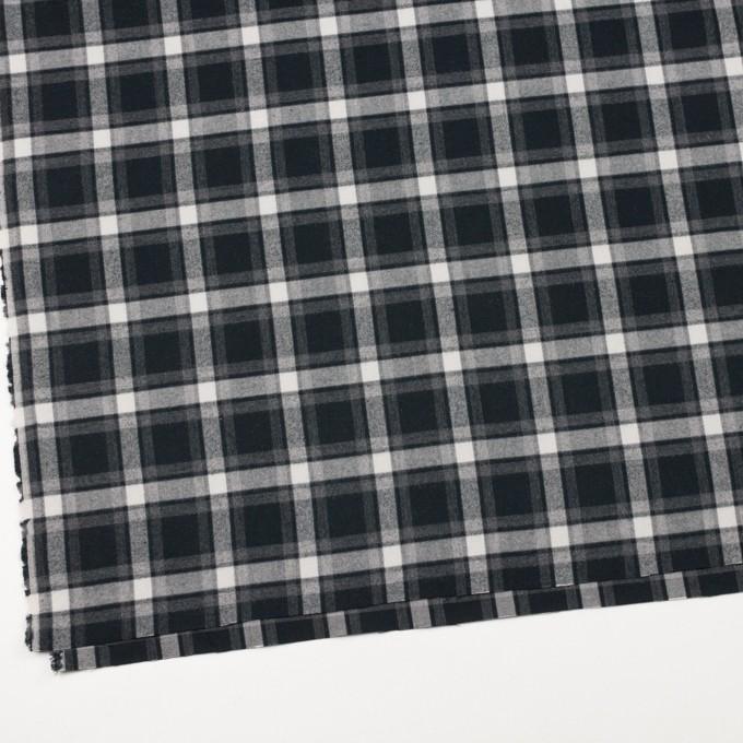 コットン×チェック(グレー&ブラック)×ビエラ イメージ2