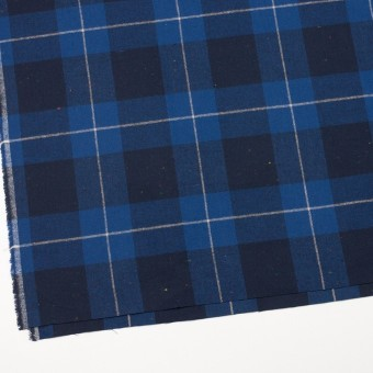 コットン&ポリウレタン×チェック(ブルー&ネイビー)×ヘリンボーン_全2色 サムネイル2