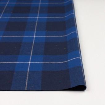 コットン&ポリウレタン×チェック(ブルー&ネイビー)×ヘリンボーン_全2色 サムネイル3