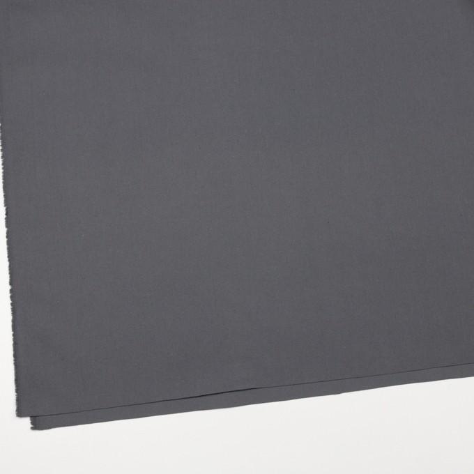 コットン×無地(スチールグレー)×ポプリン(ウェザークロス)_全4色 イメージ2