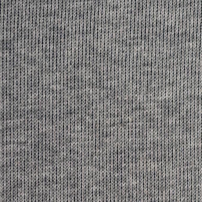 コットン×無地(杢グレー&ネイビー)×リブ&天竺ニット イメージ1