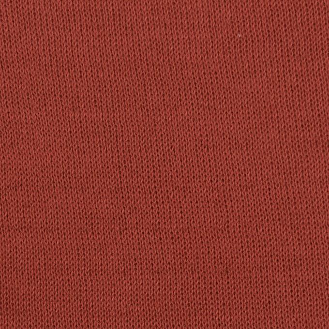 コットン×無地(レンガ)×リブ&天竺ニット_全3色 イメージ1