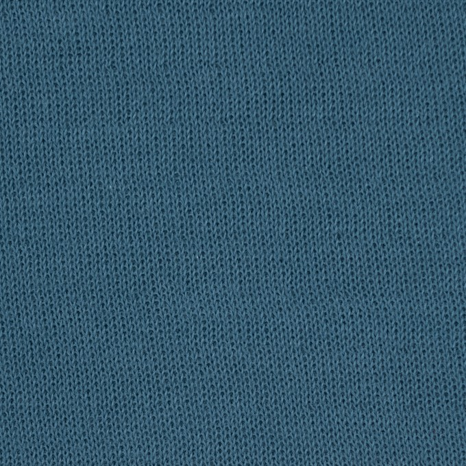 コットン×無地(ターコイズ)×リブ&天竺ニット_全3色 イメージ1