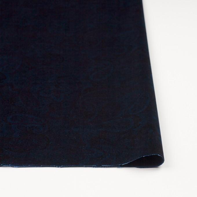 コットン&ポリウレタン×ペイズリー(ダークネイビー)×ベッチンストレッチ イメージ3