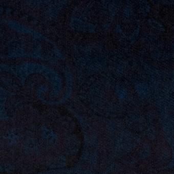 コットン&ポリウレタン×ペイズリー(ダークネイビー)×ベッチンストレッチ サムネイル1