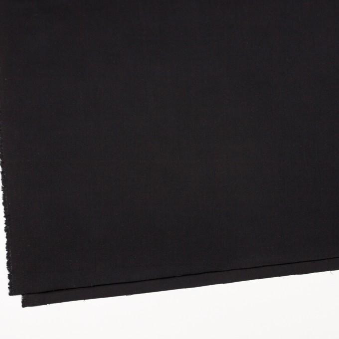 コットン&ポリウレタン×無地(ブラック)×サテンストレッチ_全2色 イメージ2