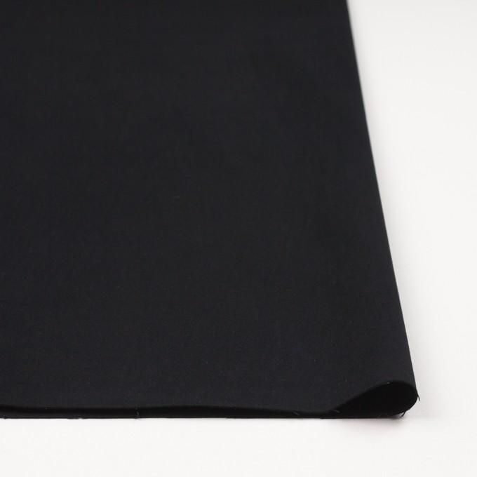 コットン&ポリウレタン×無地(ブラック)×サテンストレッチ_全2色 イメージ3
