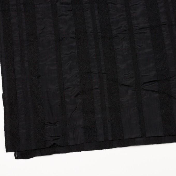 ウール&レーヨン×無地(ブラック)×二重織 イメージ2