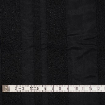 ウール&レーヨン×無地(ブラック)×二重織 サムネイル4