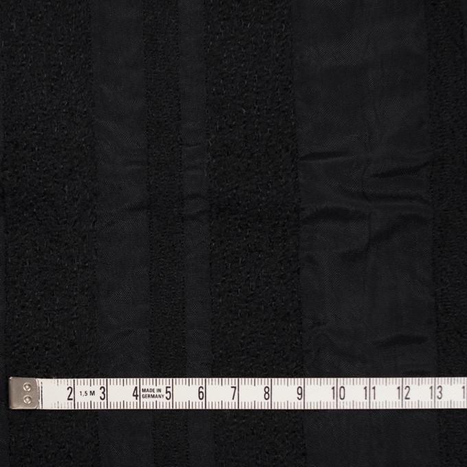 ウール&レーヨン×無地(ブラック)×二重織 イメージ4