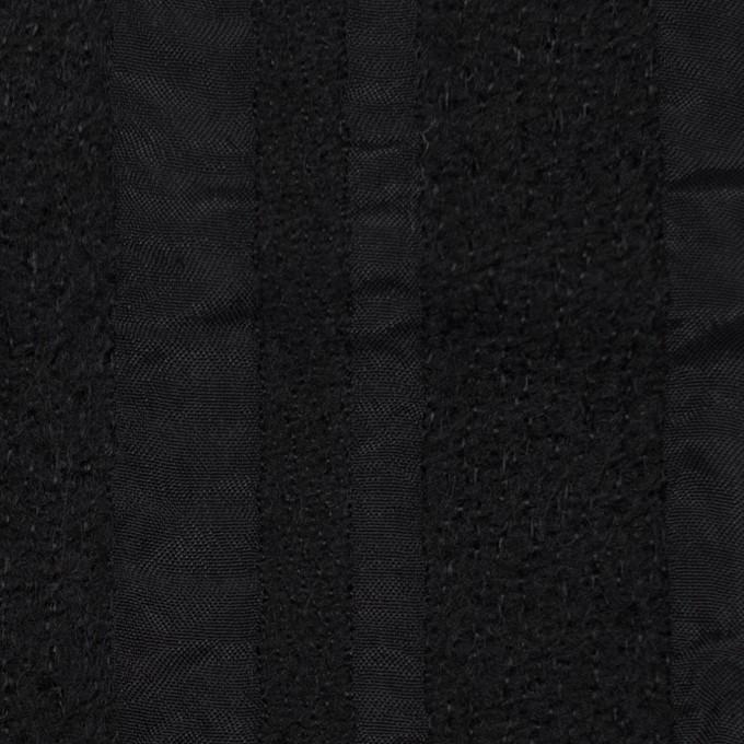 ウール&レーヨン×無地(ブラック)×二重織 イメージ1