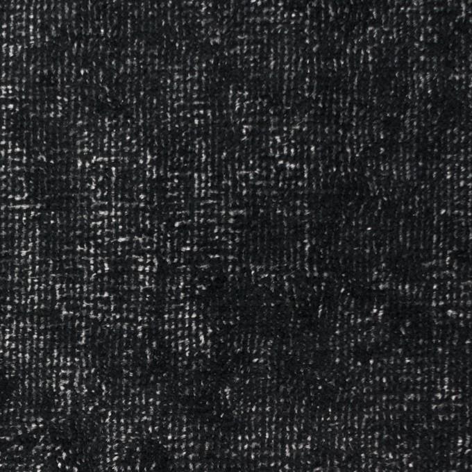 コットン&ポリエステル×ミックス(ブラック&シルバー)×ベルベット イメージ1