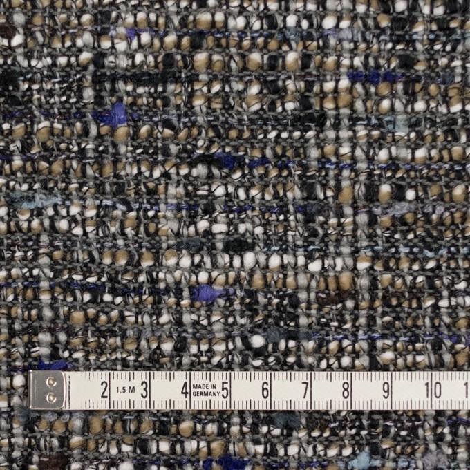 ウール&アクリル混×ミックス(グレー&モカ)×ファンシーツイード イメージ4