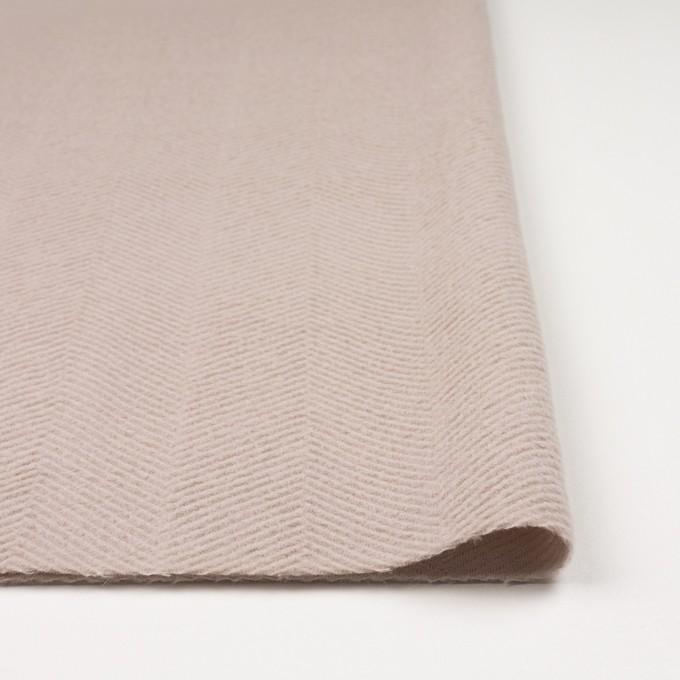 ウール&アンゴラ×無地(ウォームベージュ)×かわり織 イメージ3