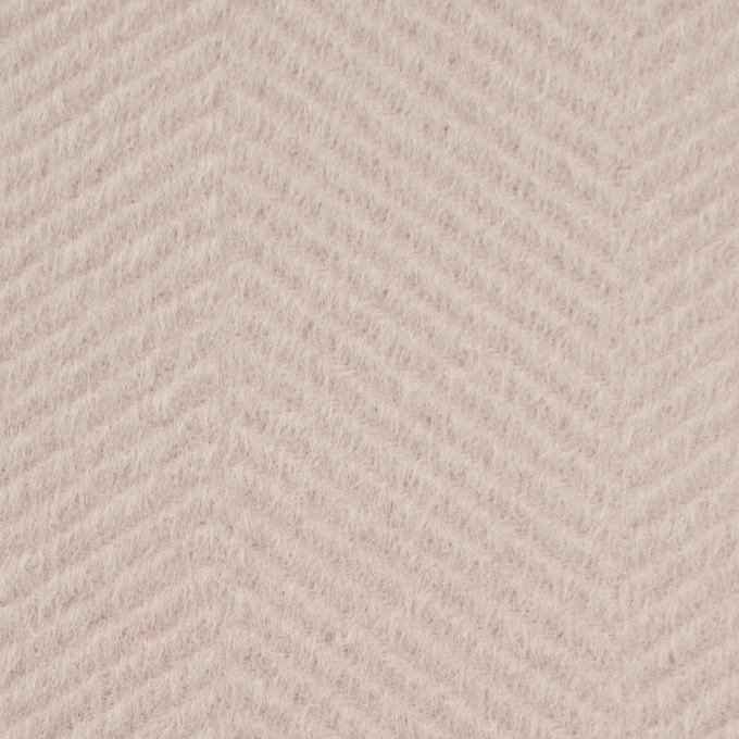 ウール&アンゴラ×無地(ウォームベージュ)×かわり織 イメージ1