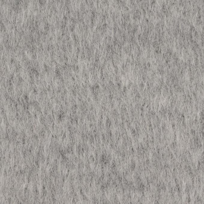 ウール×無地(ライトグレー)×シャギー イメージ1