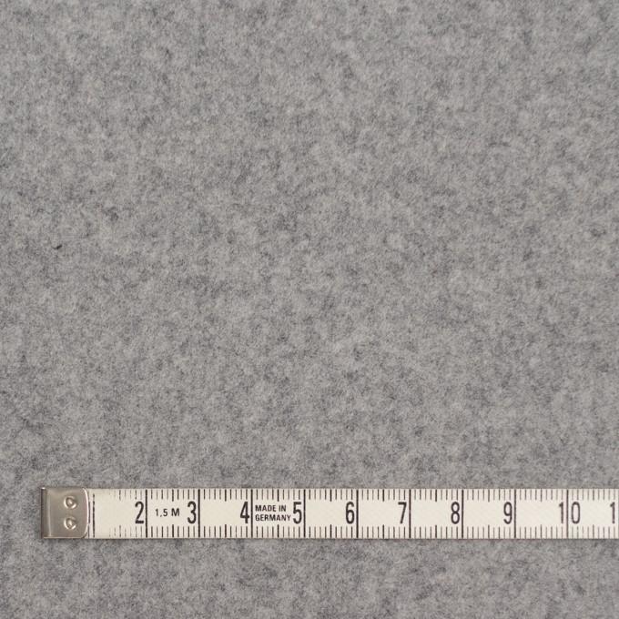ウール×無地(ライトグレー)×フラノ(フランネル) イメージ4