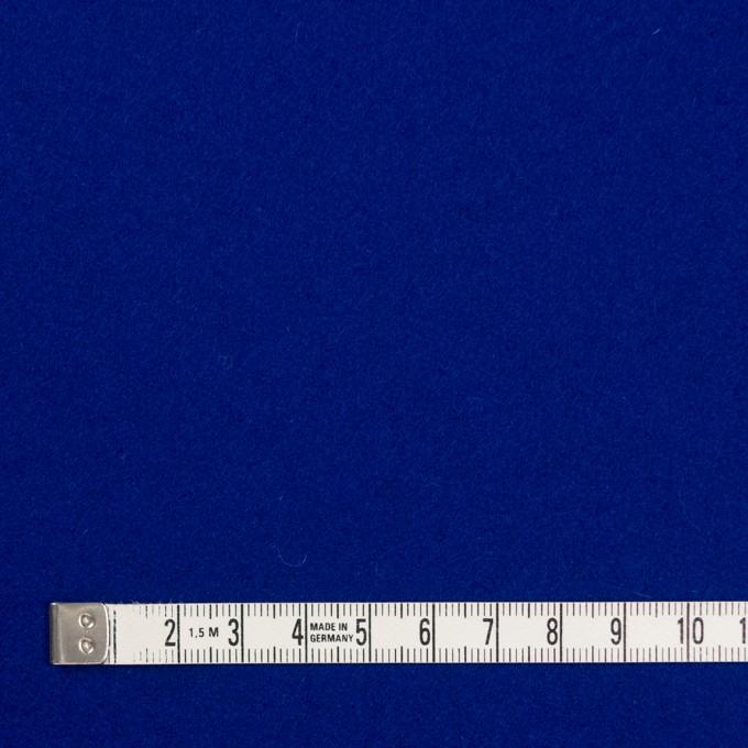 ウール×無地(マリンブルー)×フラノ(フランネル) イメージ4