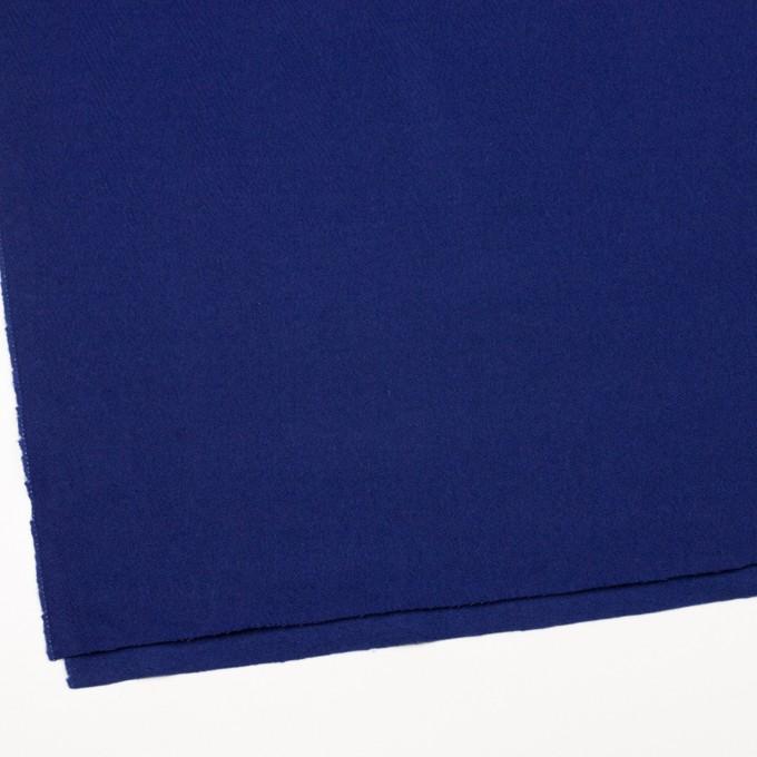 ウール×無地(マリンブルー)×かわり織 イメージ2
