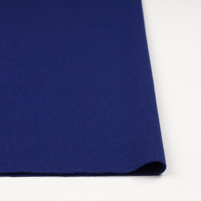 ウール×無地(マリンブルー)×かわり織 イメージ3