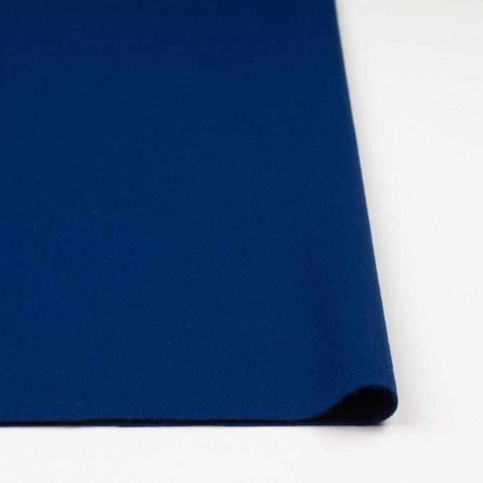 ウール×無地(ネイビーブルー)×フラノ(フランネル) イメージ3