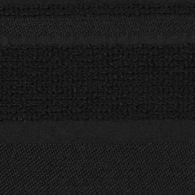 ポリエステル&ナイロン混×ボーダー(ブラック)×ジャガード_全2色 イメージ1