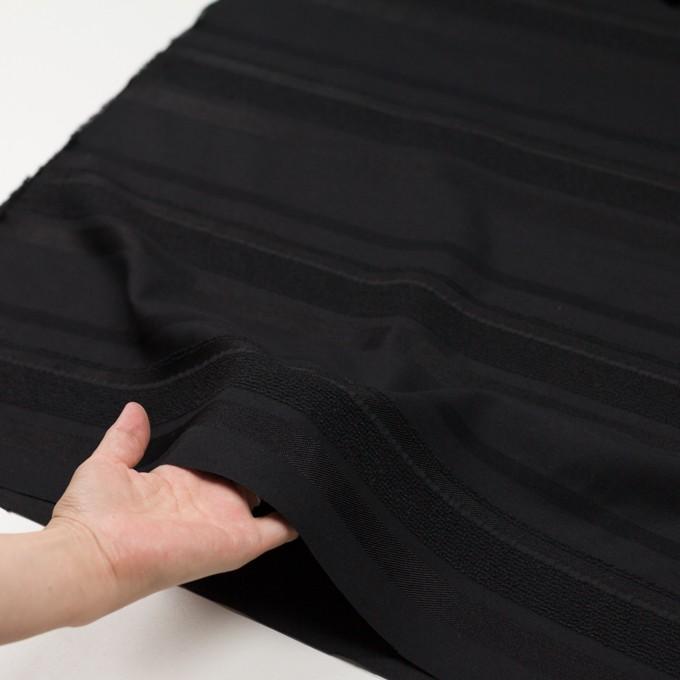 ポリエステル&ナイロン混×ボーダー(ブラック)×ジャガード_全2色 イメージ5