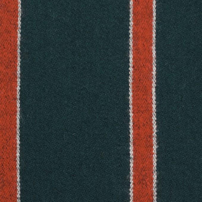 ウール×ストライプ(オレンジ&モスグリーン)×ベネシャン_全2色 イメージ1