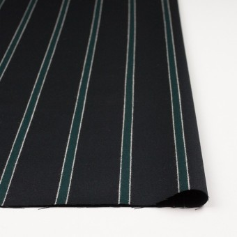ウール×ストライプ(モスグリーン&ブラック)×ベネシャン_全2色 サムネイル3