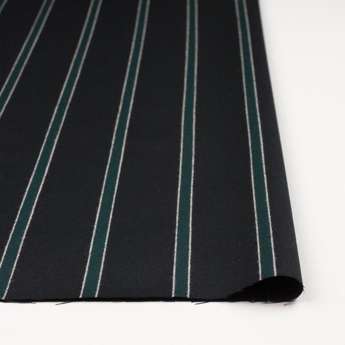 ウール×ストライプ(モスグリーン&ブラック)×ベネシャン_全2色 イメージ3