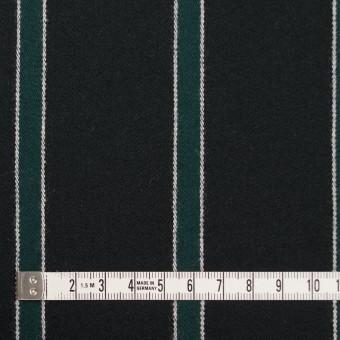 ウール×ストライプ(モスグリーン&ブラック)×ベネシャン_全2色 サムネイル4