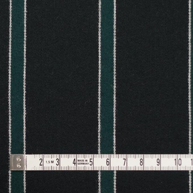 ウール×ストライプ(モスグリーン&ブラック)×ベネシャン_全2色 イメージ4