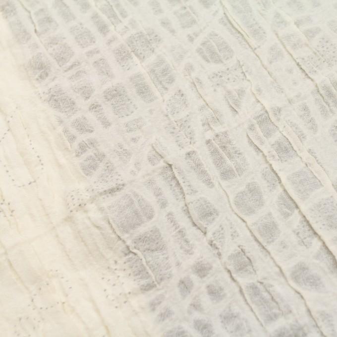 ウール&ナイロン×幾何学模様(クリーム)×ガーゼ イメージ6