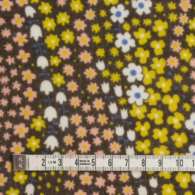 ウール×フラワー(シトラス、サーモンピンク&カーキブラウン)×ガーゼ イメージ4