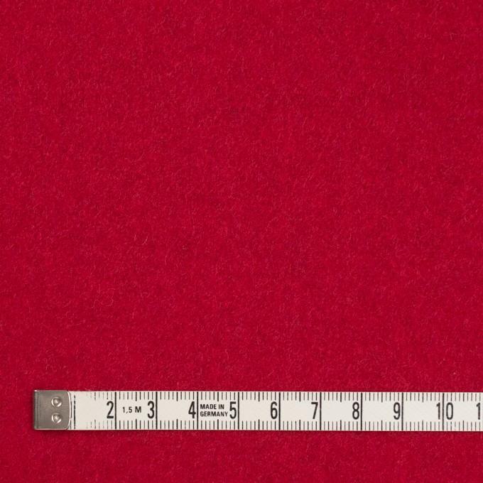 ウール&ポリエステル混×無地(レッド)×ソフトメルトン イメージ4