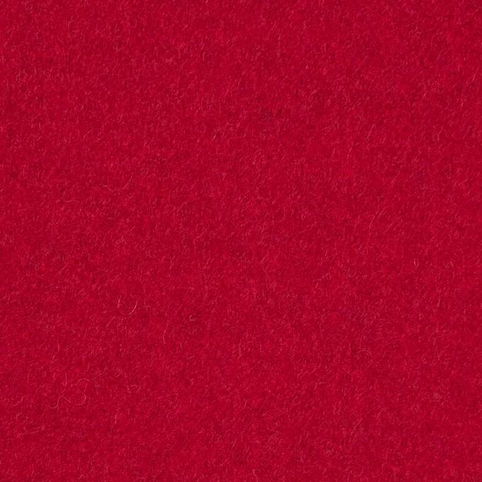 ウール&ポリエステル混×無地(レッド)×ソフトメルトン イメージ1
