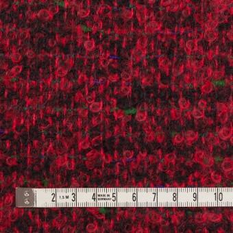 ウール&モヘア混×ミックス(レッド&ブラック)×ファンシーツイード_フランス製 サムネイル4