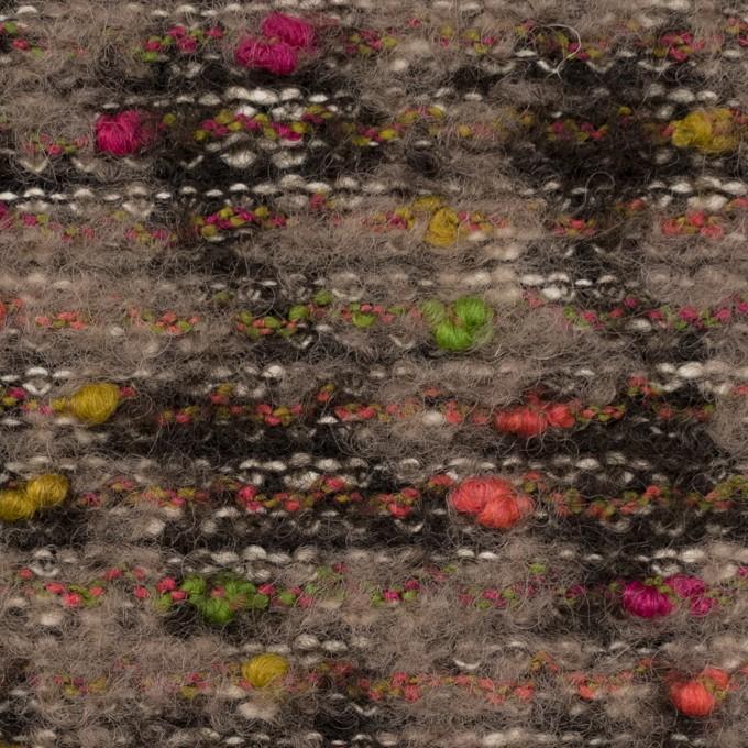 ウール&ポリエステル混×ミックス(マルチ)×ファンシーニット イメージ1