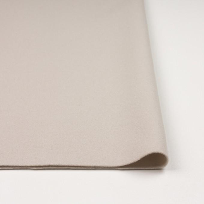 ウール&ナイロン×無地(アイボリー)×ソフトメルトン イメージ3