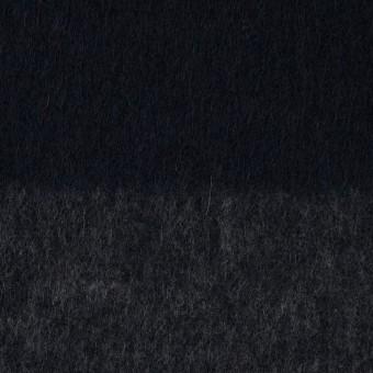 ウール&ポリエステル混×ボーダー(チャコールグレー&ダークネイビー)×シャギー_全2色