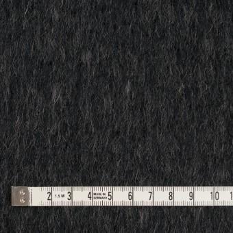 ウール&ポリエステル×無地(チャコールグレー)×シャギー サムネイル4