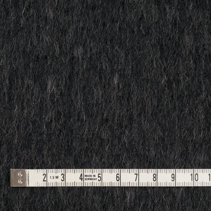 ウール&ポリエステル×無地(チャコールグレー)×シャギー イメージ4