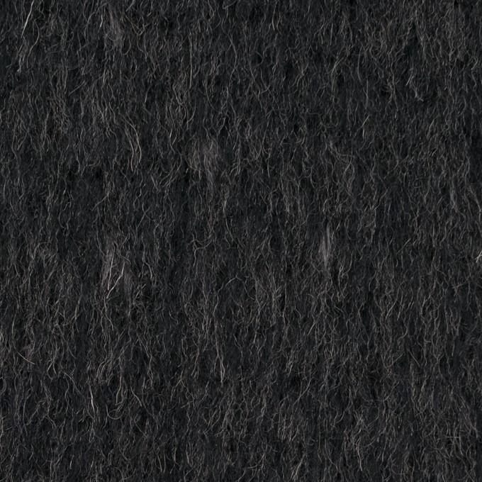 ウール&ポリエステル×無地(チャコールグレー)×シャギー イメージ1