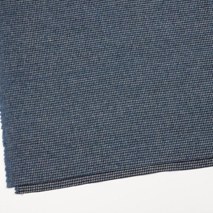 ウール&ポリエステル混×チェック(ブルーミックス)×ツイード イメージ2