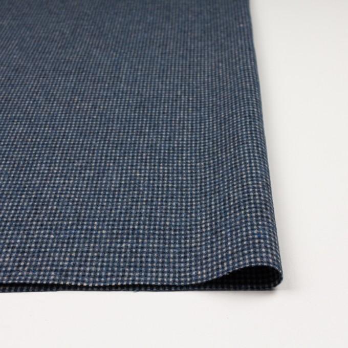 ウール&ポリエステル混×チェック(ブルーミックス)×ツイード イメージ3