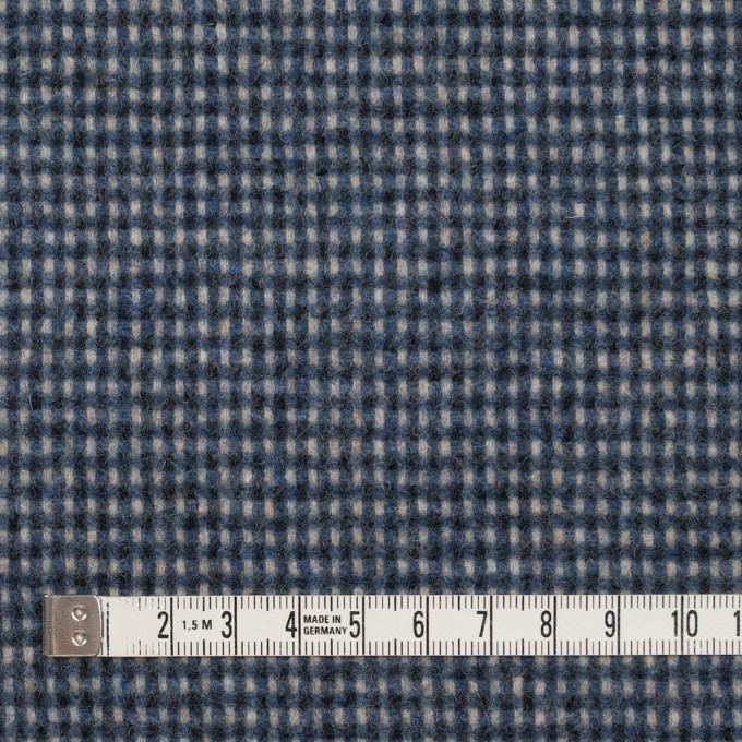 ウール&ポリエステル混×チェック(ブルーミックス)×ツイード イメージ4