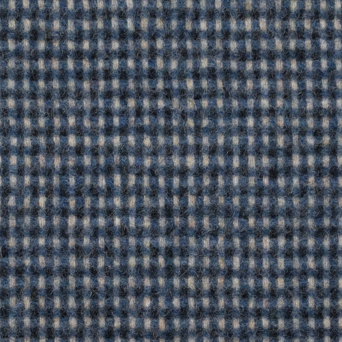 ウール&ポリエステル混×チェック(ブルーミックス)×ツイード イメージ1