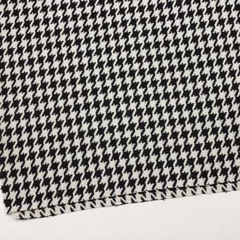 ウール&ナイロン×チェック(アイボリー&ブラック)×千鳥格子 サムネイル2