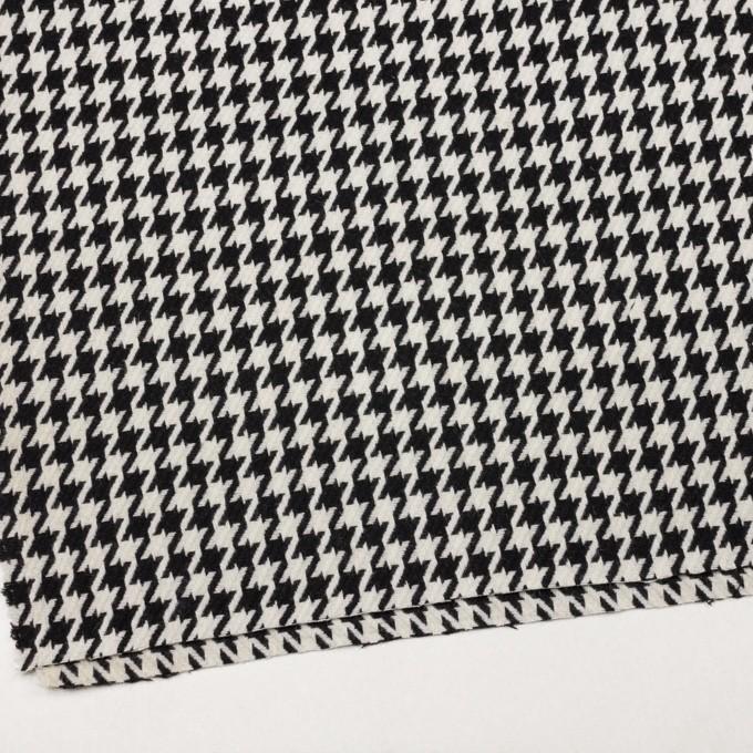 ウール&ナイロン×チェック(アイボリー&ブラック)×千鳥格子 イメージ2